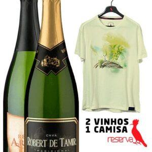 WineBox Espanhóis + Camiseta Amarela Aquarela Espanha GGG
