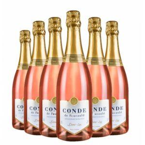 Pack Espumante Conde de Foucauld Demi-Sec Rosé 750ml